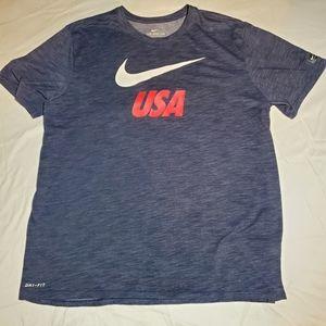 NWOT Nike USA DriFit Tee Sz L